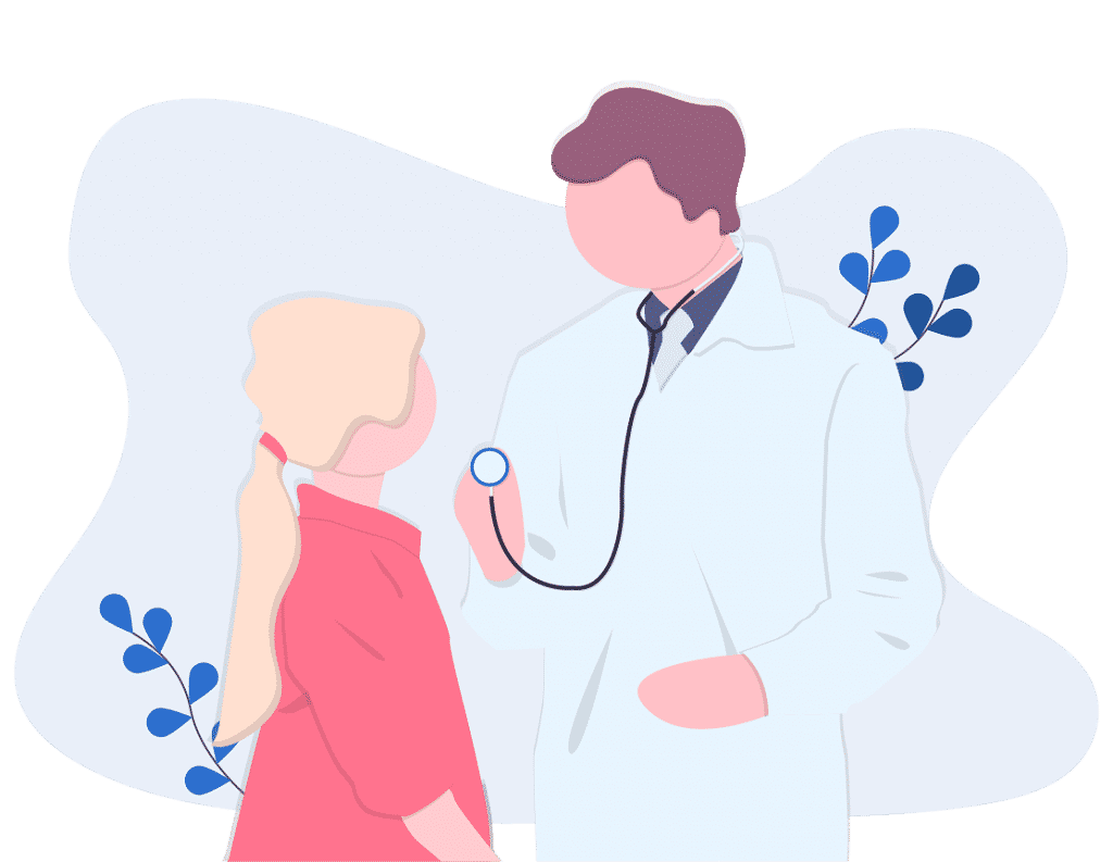 Cartoon Picture of a Doctor treating a Patient at The Richards' Centre